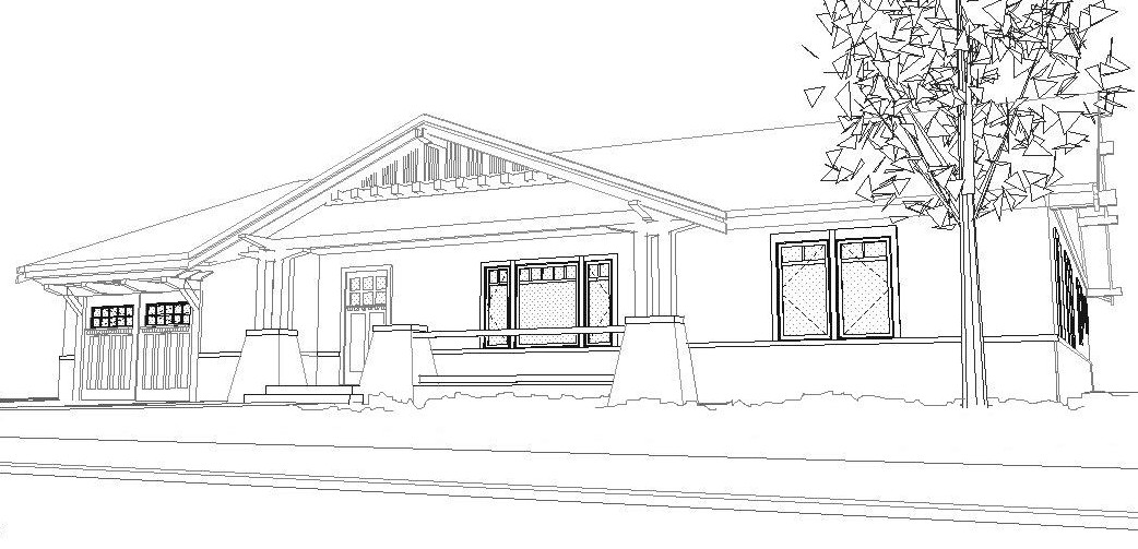 Bungalow House Coloring Pages Sketch Coloring Page