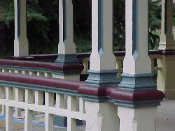 Detail, porch columns and railing colonial