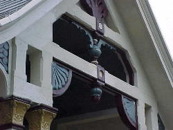 Porch gable detail gothic