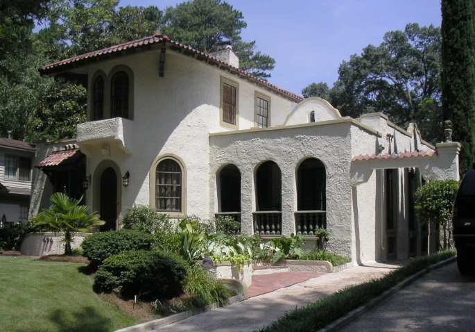 Atlanta Mediterranean Historic House Colors