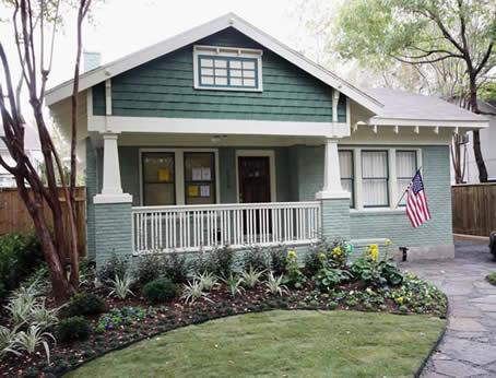 Texas bungalow historic house colors for Bungalow paint schemes