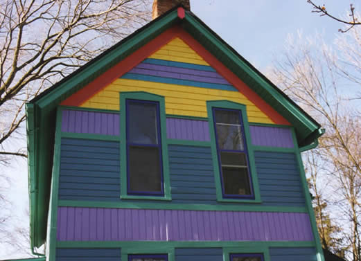 Fun with house colors gable details
