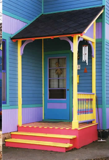 Fun with colors porch