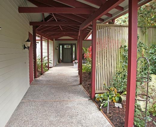 updated colors in walkway