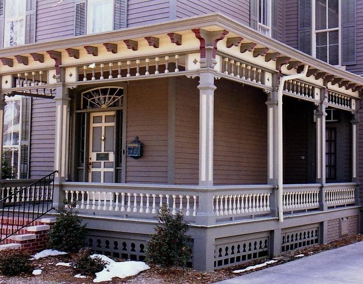 Adrian Italianate porch new colors
