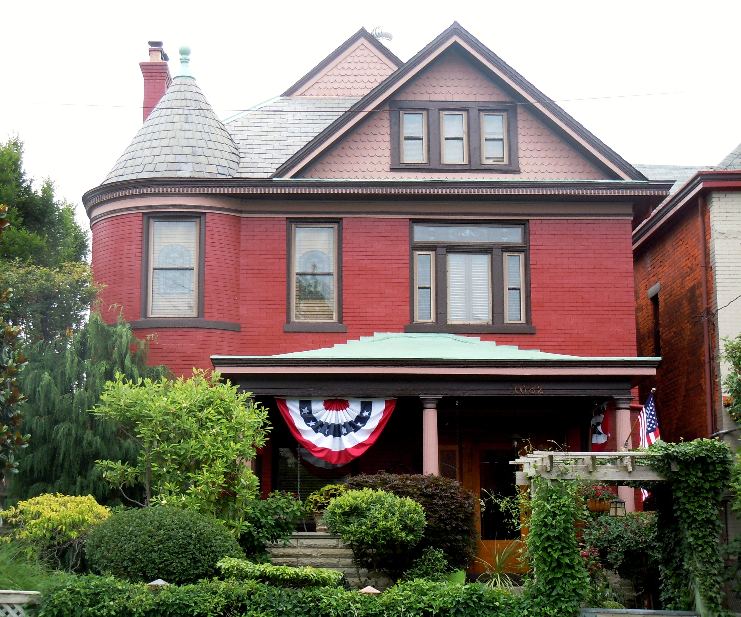 Shelton Victorian Queen Anne Cincinnati Ohio Historic House Colors