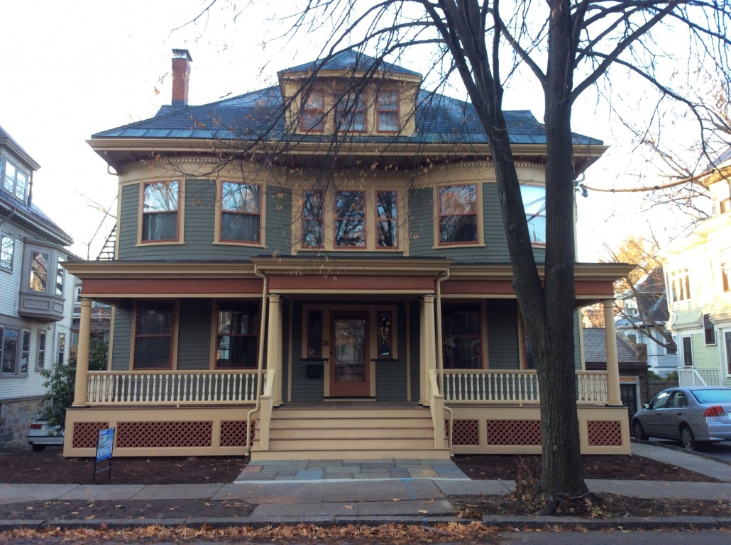 Colonial Revival in Brookline, MA - Historic House Colors