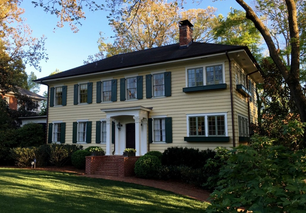 Georgian Colonial Revival In Atlanta Georgia Historic House Colors