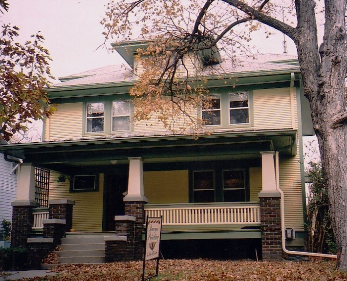 American Foursquare Historic House Colors