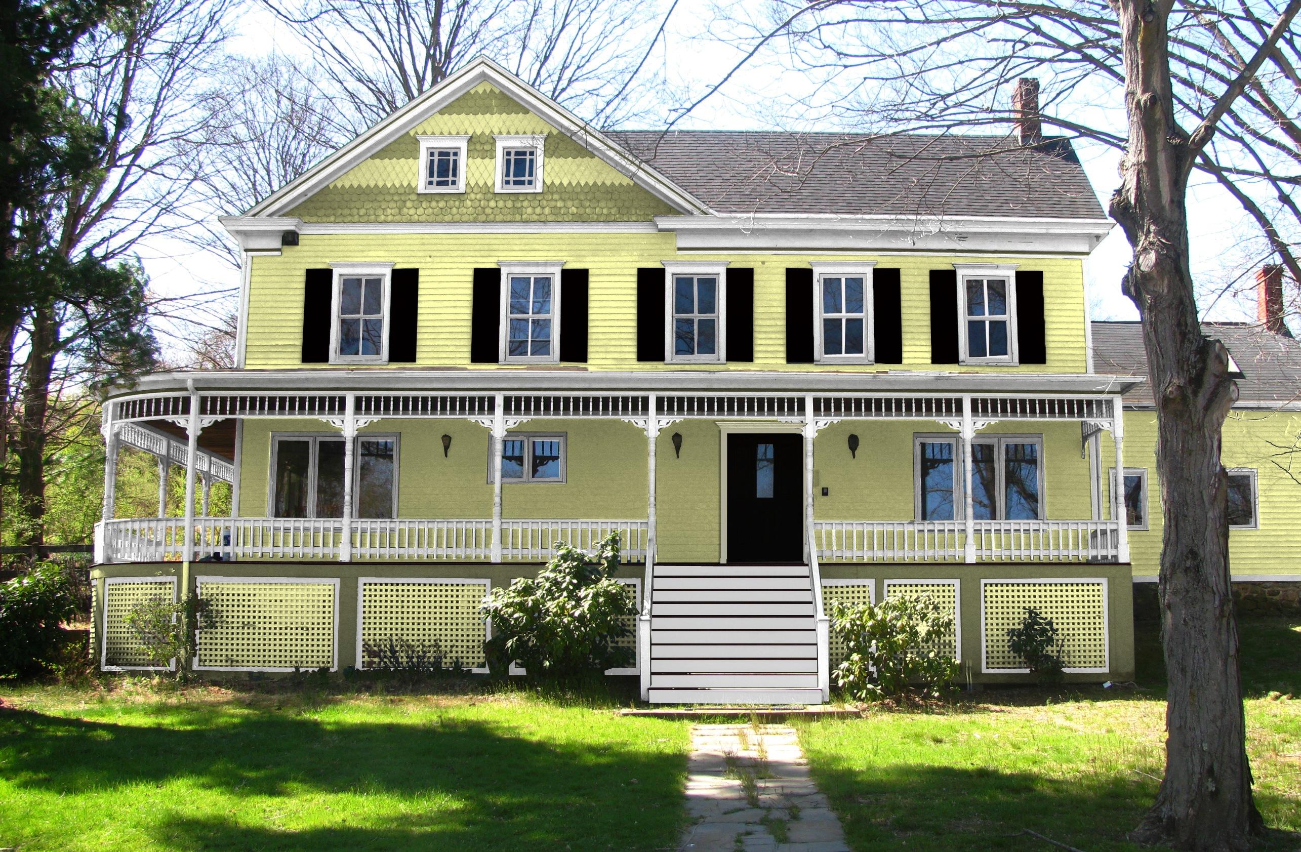 Cream Yellow House Exterior